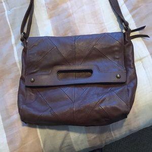 Lucky Brand Dark Brown Leather Crossbody Bag